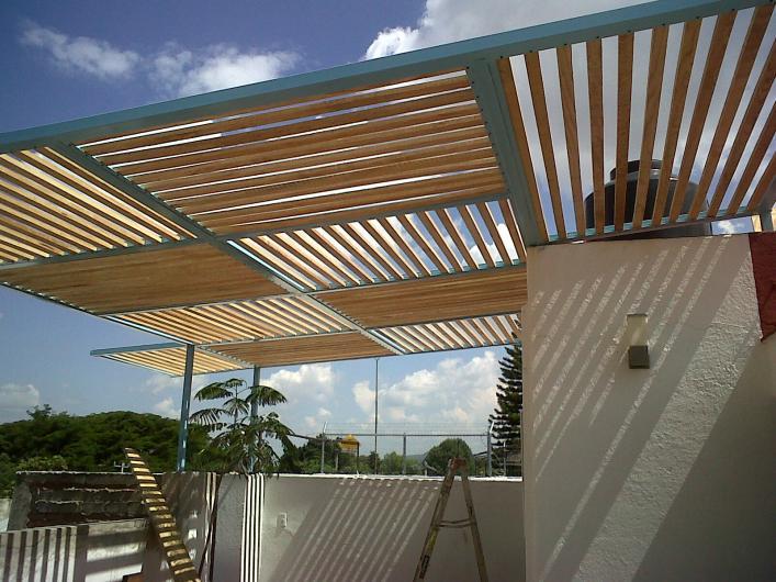 Galu dise os tubulares estructuras met licas en - Estructuras para terrazas ...