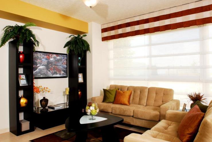 Dise o y decoraciones anka decoracion con papel tapiz en for Decoracion de interiores guadalajara