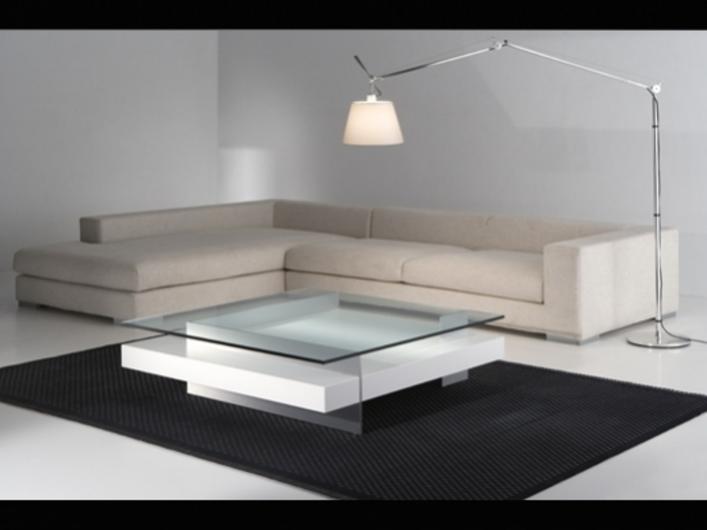 Muebles de salas modernos: foto de sofá blanco piel en l con ...