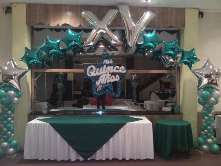Arsedi decoraciones con globos en ixtapaluca tel fono y for Decoracion de salon para 15