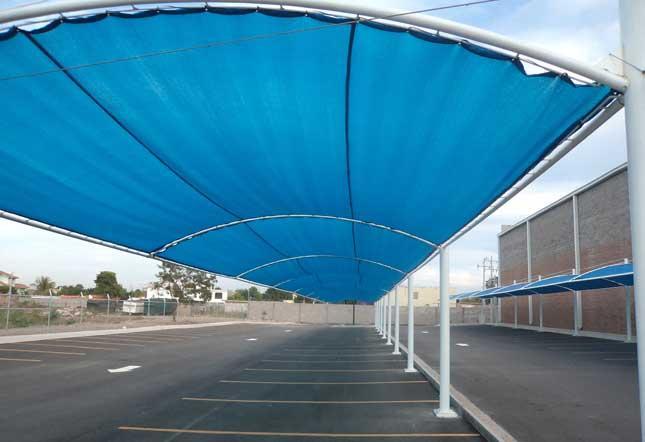 Megasombras culiacan malla sombra en culiacan tel fono for Toldos para estacionamiento