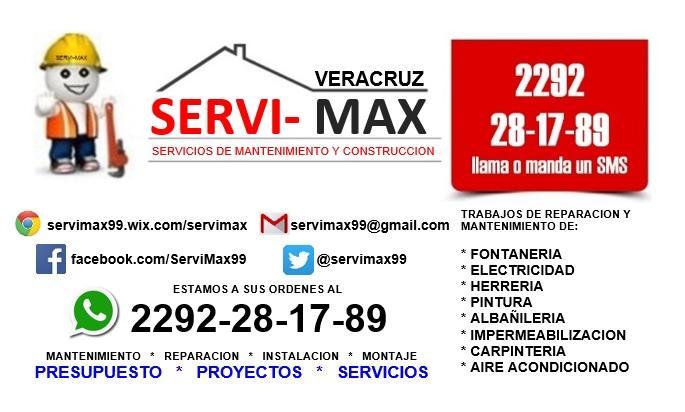 Servi max veracruz servicios de mantenimiento y for Servicios de construccion