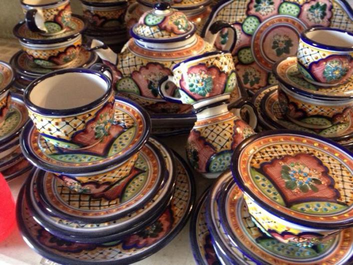 Vajillas de talavera tradicional poblana en puebla for Vajilla ceramica