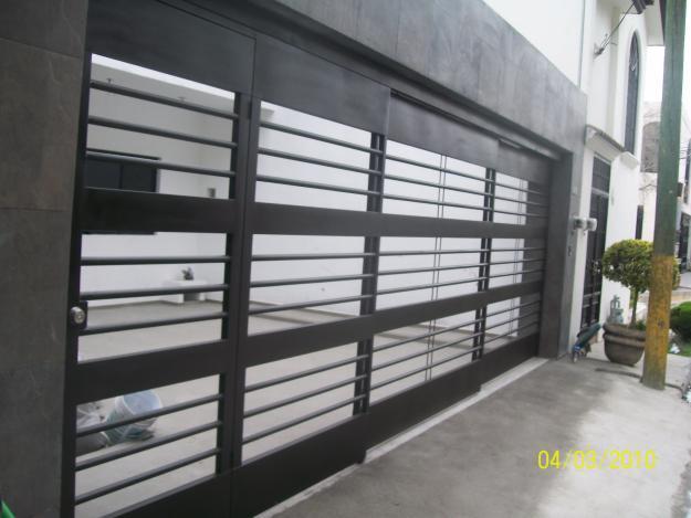 Portones contempor neos en monterrey tel fono y m s info Puertas corredizas seguras
