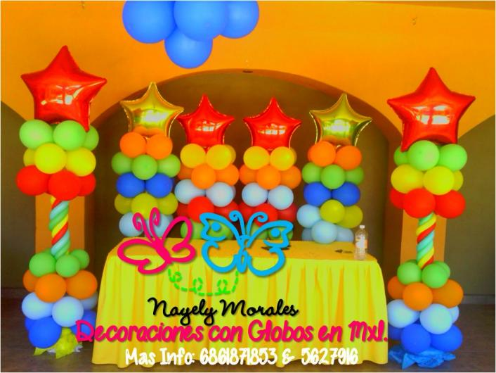 Decoracion con globos en mxl en mexicali tel fono y m s info for Decoracion para pared con globos