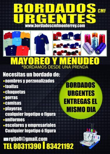 Cmf bordados monterreyurgentes en Monterrey. Teléfono y más info. a11b586de37ed
