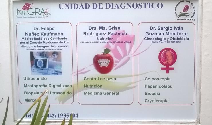 Clínica Integrate Ya en SANTIAGO DE QUERETARO. Teléfono y