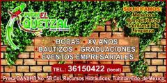 Jardin de eventos el quetzal en tultitlan tel fono y for Salon jardin villa esmeralda tultitlan